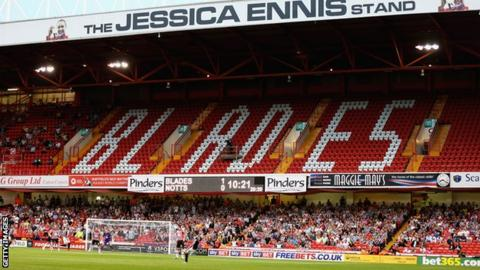 Sheffield United stand