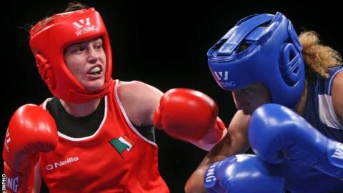 Katie Taylor on the way to winning this year's European title in Bucharest