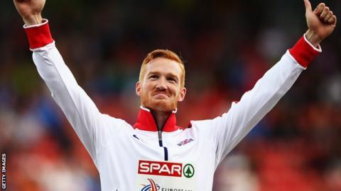 European long jump champion Greg Rutherford