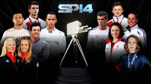 BBC Sports Personality contenders: Kelly Gallagher and Charlotte Evans, Rory McIlroy, Carl Froch, Lewis Hamilton, Max Whitlock, Adam Peaty, Gareth Bale, Charlotte Dujardin, Jo Pavey, Lizzy Yarnold