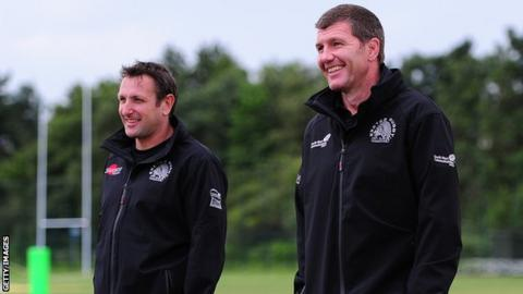 Rob Baxter (right) and assistant Ali Hepher