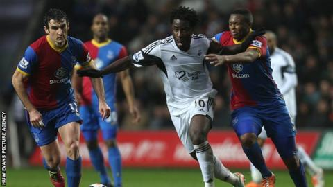 Swansea drew with Crystal Palace at home last season but won at Selhurst Park