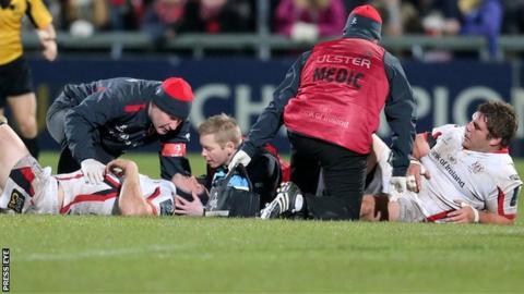 Ulster's Wiehahn Herbst and Franco van der Merwe were injured
