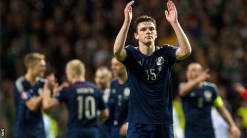 Andrew Robertson scored his first Scotland goal against England in November