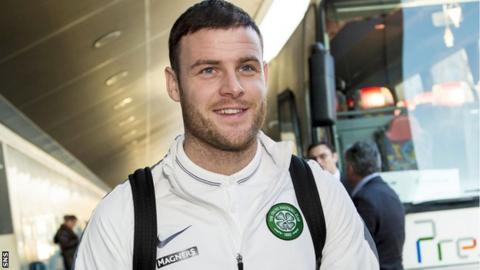 Celtic striker Anthony Stokes arrives in Zagreb