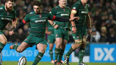 Leicester Tigers outside-half Owen Williams