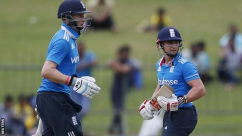Joe Root and James Taylor during their century partnership