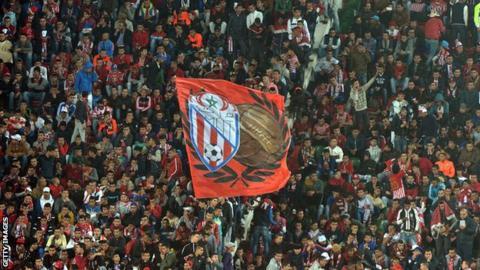 Fans of Morroco's Moghreb Tetouan