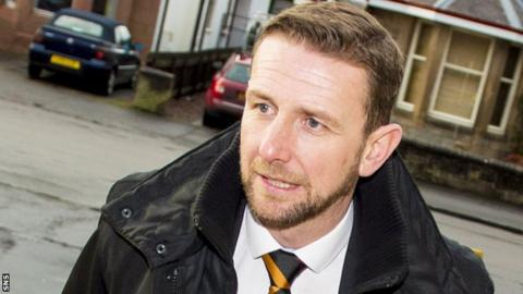 New Motherwell manager Ian Baraclough arrives at Fir Park