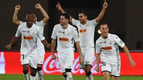 Entente Setif players celebrating