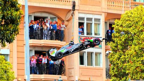 Force India at Monaco