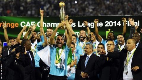 Entente Setif celebrate winning the 2014 African Champions League