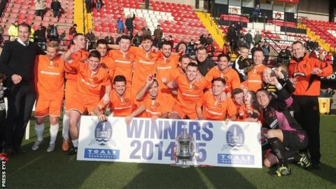 Carrick Rangers won the Steel and Sons Cup at Seaview on Christmas morning