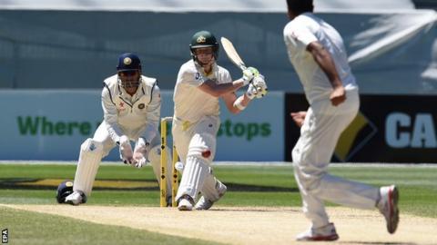 Australia captain Steve Smith on the way to 192