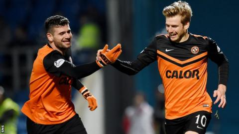 Dundee United players Nadir Ciftci and Stuart Armstrong