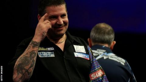 Gary Anderson after beating Phil Taylor