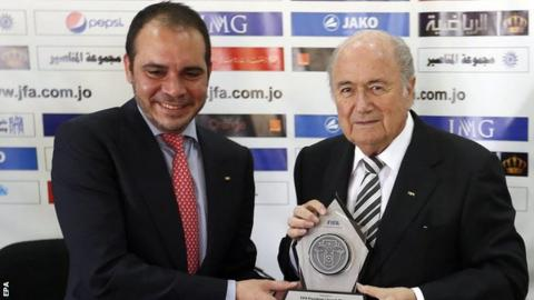 Prince Ali and Sepp Blatter