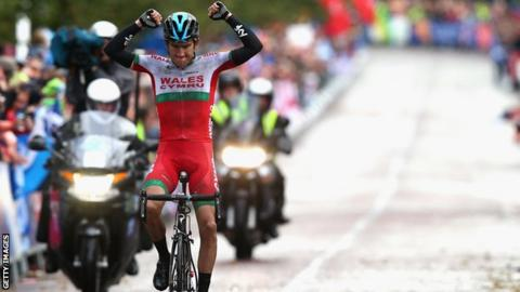 Geraint Thomas claimed road race gold for Wales at the 2014 Commonwealth Games in Glasgow