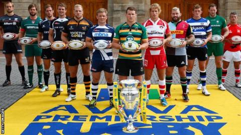 Premiership rugby captains