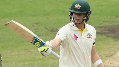 Steve Smith acknowledges his half century