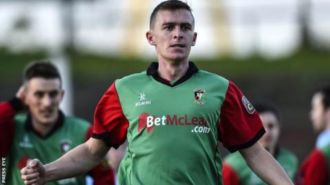 Jay Magee played for Ards and Glenavon before joining Glentoran