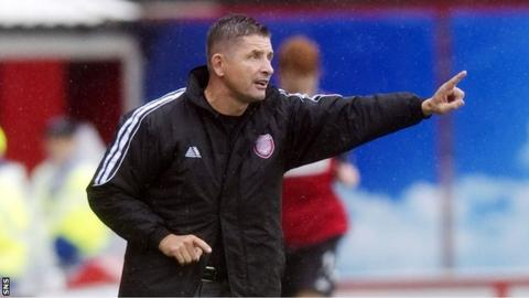 Arbroath manager Allan Moore