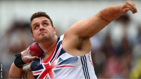Aled Sion Davies holds world records in both shot put and discus