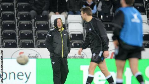Ospreys head coach Steve Tandy saw his side return to the top of the Pro12 table