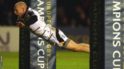 Wasps scrum-half Joe Simpson scored a fine solo try for the visitors