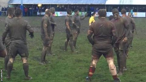 Mud match between Dings Crusaders and Cambridge