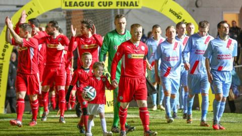 Belfast's Windsor Park was the setting for the 2014-15 Irish League Cup final between Cliftonville and Ballymena United