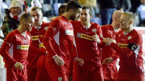 Joe Gormley took just 55 seconds to put Cliftonville into the lead as he pounced on a Ballymena mistake to make it 1-0