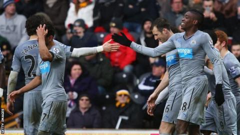 Sammy Ameobi (right) is congratulated after scoring for Newcastle