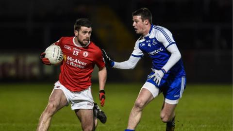 Darren McCurry makes ground for Tyrone as Ryan Wylie closes in at Healy Park on Saturday night