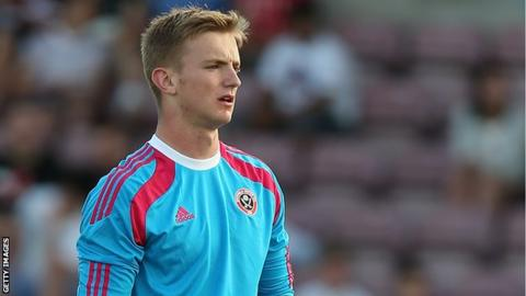 George Long in Sheffield United colours