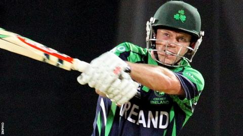 Ed Joyce in action for Ireland