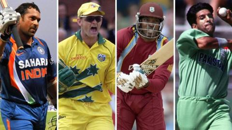 Sachin Tendulkar, Adam Gilchrist, Chris Gayle & Wasim Akram