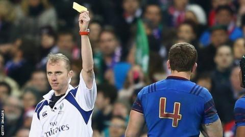 Pascal Pape escaped with a yellow card from referee Wayne Barnes