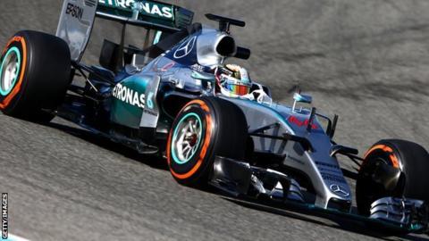 The 2015 Mercedes F1 car