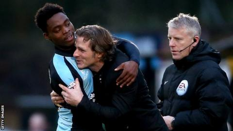 Gareth Ainsworth and Fred Onyedinma