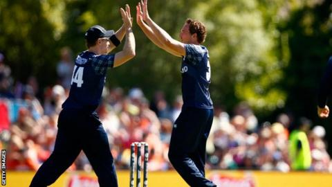 Scotland took seven New Zealand wickets in their opening Pool A match