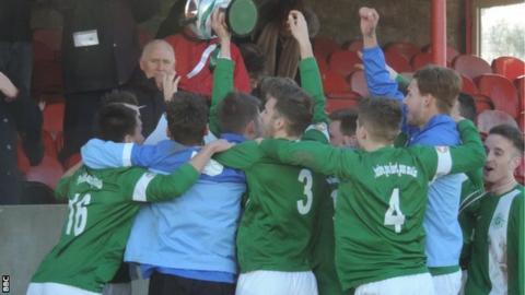 Guernsey celebrate their win