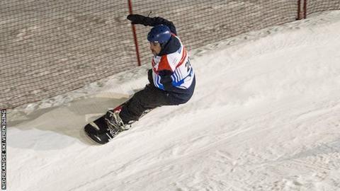 GB snowboarder Ben Moore
