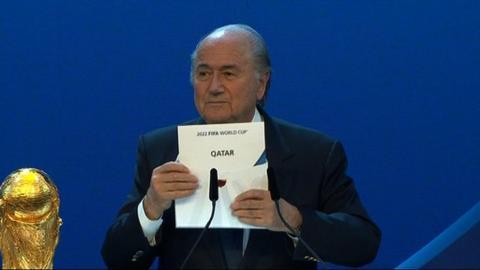 Sepp Blatter reveals Qatar as World Cup 2022 hosts