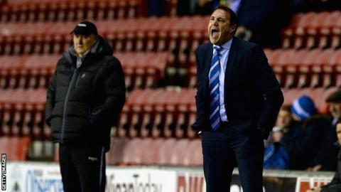 Malky Mackay encourages his team