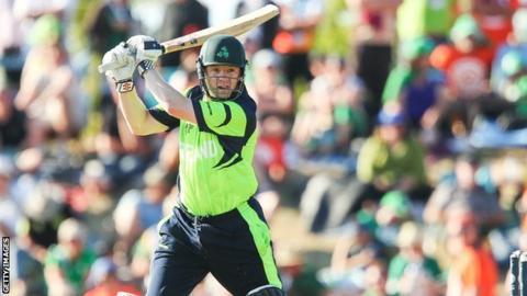 Ireland batsman Niall O'Brien