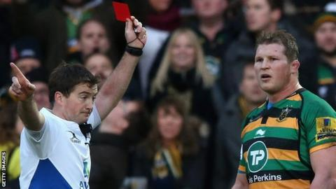 Dylan Hartley receives red