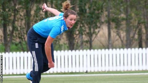 England pace bowler Kate Cross