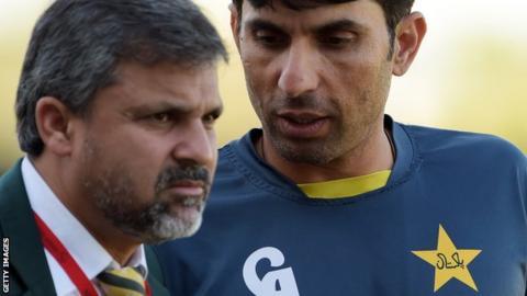 Moin Khan and Misbah-ul-Haq