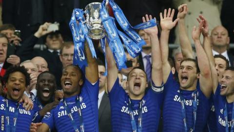 Chelsea lift the 2015 Capital One Cup